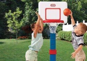 kids use basketball hoops